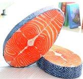 Jalaya New Arrival Washable Amusing Simulation Tasty Salmon Fish Sushi Pillow Cushion Home Decor
