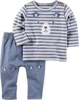 Carter's Baby Boys' 2 Piece Bear Top And Pants Set