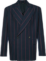 Vivienne Westwood Man - boxy striped jacket - men - Virgin Wool - 48