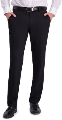 Louis Raphael Solid Flat Front Skinny Fit Dress Pants
