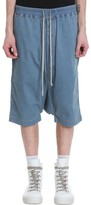Drkshdw Drawstring Pods Shorts In Blue Cotton