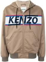 Kenzo logo printed bomber jacket