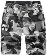 YoungSoul Big Boys Elastic Waist Camo Pull-On Cargo Shorts 7-8T