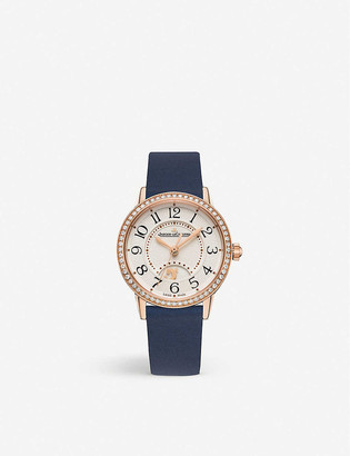 Jaeger-LeCoultre Q3578430 Rendez-Vous stainless steel, diamond and leather watch