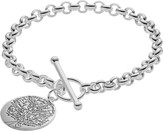 Sterling Silver Family Tree Charm Toggle Bracelet