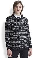 Stripe-Patterned Wool & Cashmere-Blend Sweater