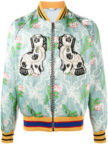 Gucci floral jacquard embroidered bomber - men - Silk/Polyester/Viscose - 48
