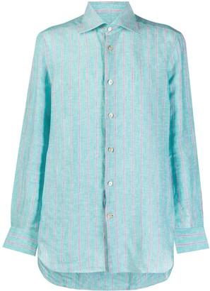 Kiton Contrast Stripe Shirt
