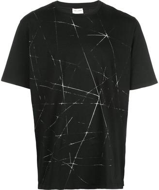 Saint Laurent beam print short-sleeve T-shirt