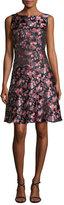 Etro Floral Jacquard A-Line Dress, Pink