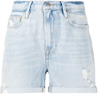 Frame Le Beau denim shorts