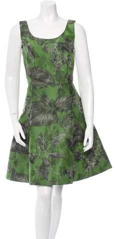 Oscar de la Renta Silk Sleeveless A-Line Dress w/ Tags