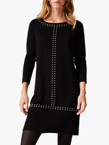 Phase Eight Robyn Stud Dress, Black