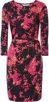 Diane von Furstenberg Zoe printed silk-blend mini dress
