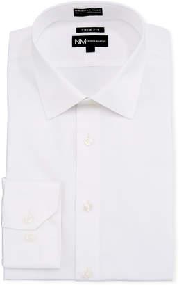 Neiman Marcus Men's Trim-Fit Dobby Texture Dress Shirt