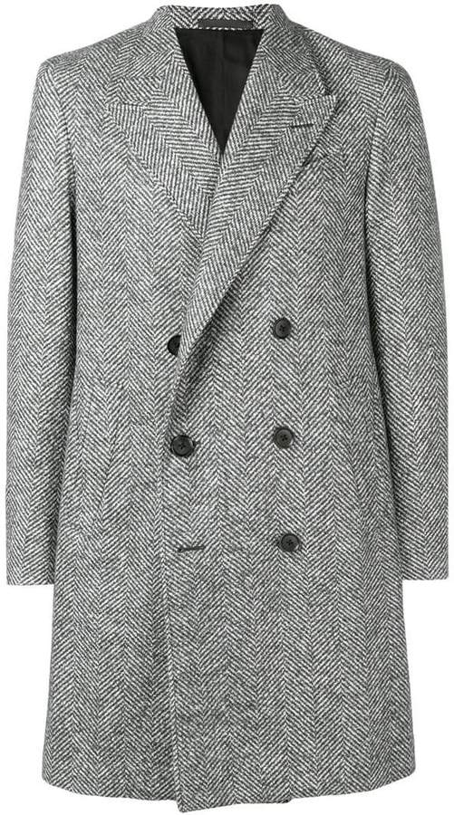 Caruso double-breasted fitted coat