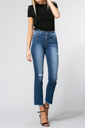 Flying Monkey Faria Micro Boot Cut Distressed High Rise Jeans