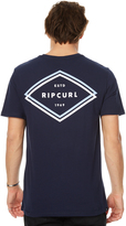 Rip Curl Double Ups Mens Tee Blue