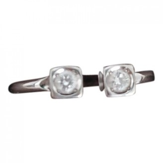 Dinh Van Le Cube Diamant Grey White gold Rings