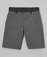Burnside Charcoal Plan B Hybrid Shorts - Boys