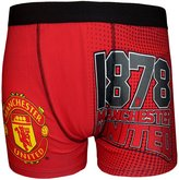 Manchester United F.C. Manchester United FC Official Football Gift Mens Crest Boxer Shorts Soccer