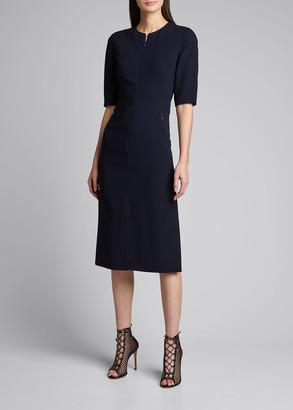 Akris Wool Double-Face Sheath Dress