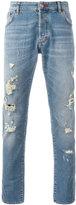 Philipp Plein distressed slim jeans - men - Cotton/Polyester/Spandex/Elastane - 29