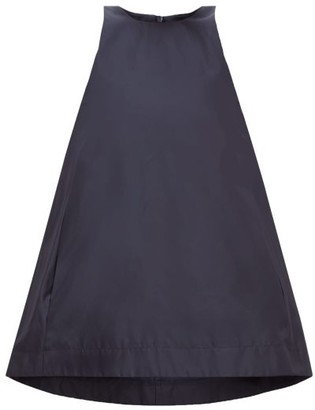 Raey Sleeveless Silk-taffeta Trapeze Top - Navy