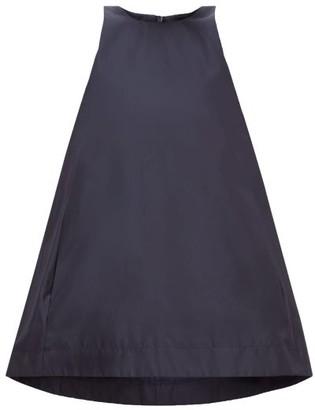 Raey Sleeveless Silk-taffeta Trapeze Top - Womens - Navy