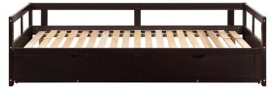 Thumbnail for your product : Winston Porter Wooden Daybed With Trundle Bed And Two Storage Drawers , Extendable Bed Daybed,Sofa Bed For Bedroom Living Room,White