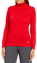 Calvin Klein Ribbed Fine Gauge Turtleneck Sweater