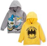 Children's Apparel Network Gray Batman Hoodie & Yellow Bat Logo Zip-Up Hoodie - Boys