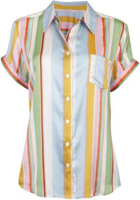Jessica Russell Flint Kansas Summer Stripe Short Sleeve Pyjama Top
