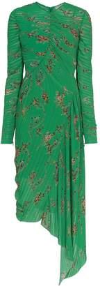 Preen by Thornton Bregazzi Teresa micro pleat floral print dress