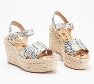 Sam Edelman Animal Print Wedge Sandals - Maura