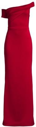 Black Halo Zendaya Off-The-Shoulder Column Gown