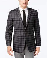 Vince Camuto Men's Slim-Fit Stretch Gray Multi-Plaid Sport Coat