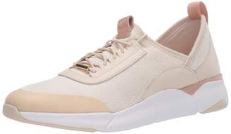 Cole Haan Women's Grand Sport Stitchlite Trainer Beige Birch Knit/Leather/Mahogany Rose/Optic White 3 (35.5 EU)