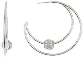 Vince Camuto Crystal Pave Rondelle Hoop Earrings