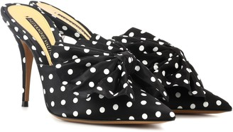 Alexandre Vauthier Kate 100 polka-dotted mules