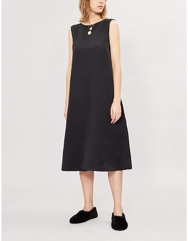 Jil Sander Geraneo low-back woven midi dress