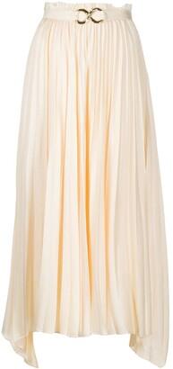 REJINA PYO Pleated Flared Midi Skirt