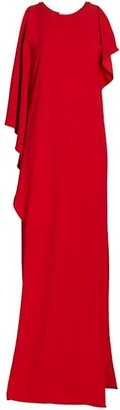 St. John Draped Stretch Cady Gown
