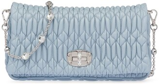 Miu Miu Miu crystal leather clutch bag