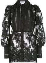 Marchesa lace long sleeve blouse