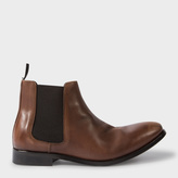 Paul Smith Men's Brown Calf Leather 'Lydon' Chelsea Boots
