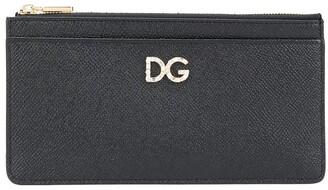 Dolce & Gabbana Leather Multi-Pocket Logo Purse