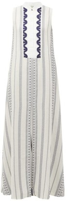 Zeus + Dione - Persephone Striped Maxi Dress - Womens - White Multi