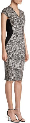 Escada Delivia Daisy Jersey Sheath Dress