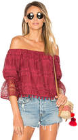 Tularosa Alexa Top in Wine. - size L (also in S,XS)